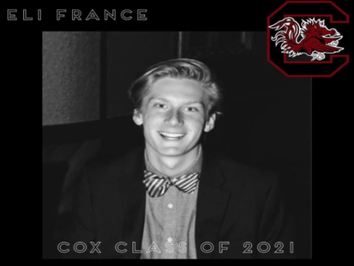 SENIOR ELI FRANCE reminisces about high school memories as a graduating senior. According to France, his senior year was not what he ever expected, but wishes future generations a better experience next year.  France will head to the University of South Carolina in the fall.